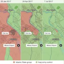 Current Map Of Middle East by How The Battle For Mosul Unfolded Bbc News