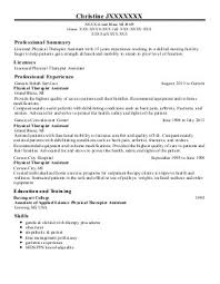 Sample Ot Resume by Pta Resume Examples Operating Manual Templatecreate A Gift