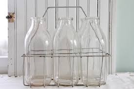 glass milk bottle vase flower vases the vintage house