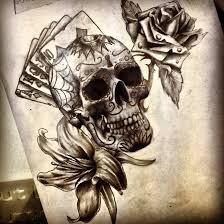 sugar skull and flowers by dazzbishop on deviantart