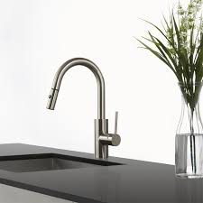 Pre Rinse Kitchen Faucets Kraus Kpf 2620 Mateo Single Lever Pull Down Kitchen Faucet