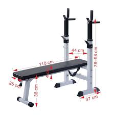 mascarello adjustable folding weight bench barbell w dip station