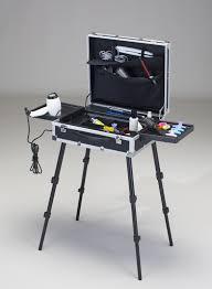hair and makeup station mobile hair styling trolley vpp
