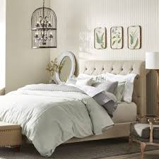 Overstock Platform Bed Oxford Beige Linen Platform Bed Free Shipping Today Overstock