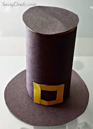 pilgrim hat toilet paper roll thanksgiving craft for crafty