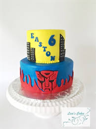transformer cakes birthday cake