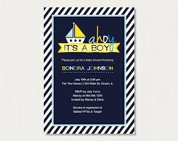 ahoy it s a boy nautical boat baby shower invites zazzle