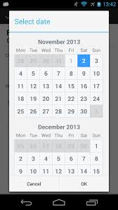 calendar resizes itself when date is selected dialog issue 65