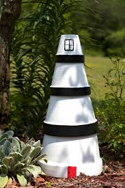 diy lighthouse lawn ornament some of this and that