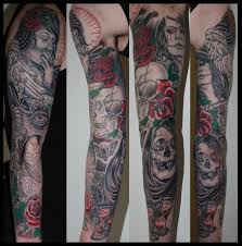 and death tattoo sleeve