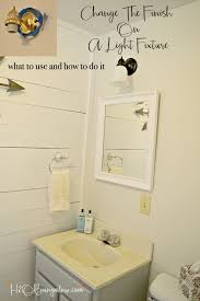 ideas to paint a bathroom how to paint a metal light fixture h20bungalow