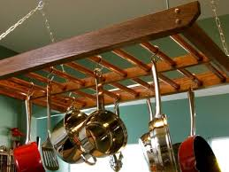 Hanging Pot Rack In Cabinet by How To Build A Hanging Pot Rack How Tos Diy