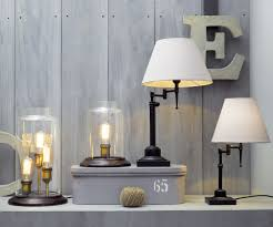 Small Table Lamps by Bentley Small Table Lamp In Black Off White