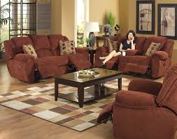 Power Reclining Sofa Set Conrad Manual Reclining Sofa In Chianti Color Chenille Fabric By