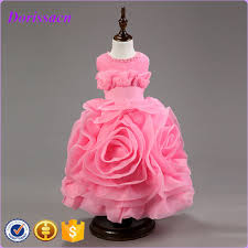 solid rose latest party wear dresses for baby kids western
