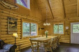 log home open floor plans hummingbird log cabin rental lake vermilion white eagle resort