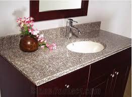 Bathroom Vanity Counters China G623 Granite Bathroom Vanity Tops Custom Pertaining To