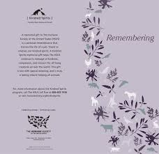Samples Of Memorial Programs Protect Animals Give A Gift The Humane Society Of The United