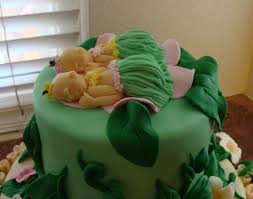 photo twins baby shower cakes image