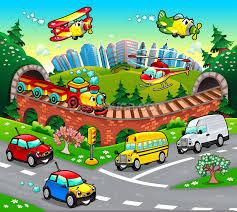 childrens car wallpaper wall murals wallsauce cartoon road mural wallpaper