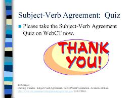 subject verb agreement a short description agenda definition
