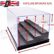 clear acrylic l base uk perspex acrylic display box case 25cm l plastic base 4 steps