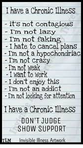 Invisible Illness Meme - i have a chronic illness it s not contagious i m not lazy i m not