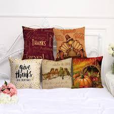 thanksgiving chair decorative pillow thanksgiving turkey pillowcase 17 5 inch