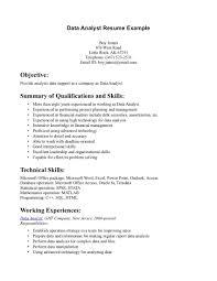 data analyst resume sle resume template info