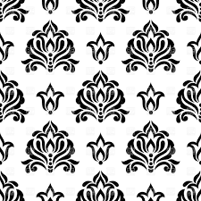 seamless damask ornament vector clipart image 29433 rfclipart