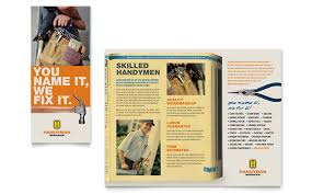 home repair services brochure template design