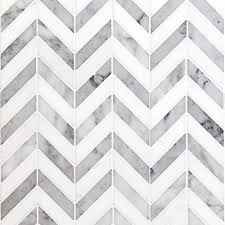 Marble Mosaic Backsplash Tile by Beautiful Herringbone Marble Tile 126 Herringbone Carrara White