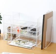 Acrylic Desk Organizer Transparent Acrylic Desk Organizer Stationery Holder Office Drawer
