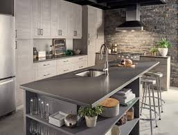grey kitchen cabinets and black countertops quartz countertops 12 design ideas for your home