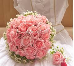 wedding flowers gift wedding bouquet artificial pink flowers bridal throw bouquet