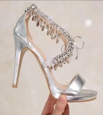 Rhinestone Sandal Heels Online Buy Wholesale Rhinestones Sandals Heels Silver From China