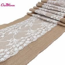 natural burlap table runner 10pcs natural burlap table runner hessian vintage tablecloth cover