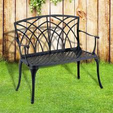 outsunny outdoor patio furniture 39 garden bench park yard chair