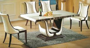 Luxurious Rectangular Marble Dining Tables Home Design Lover - Marble dining room furniture