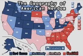 america map utah the nerdiest states in america estately