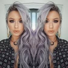 ombre style for older woman witchy lavender grey waves lavender 21st and grey