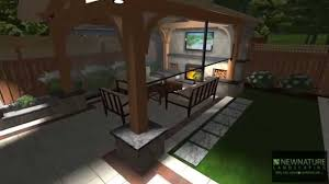 new nature landscaping backyard cabana and bbq kitchen youtube