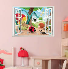 Animals Playing In Wild Nature Home Wall Decor Stickers Cartoon - Kids rooms decals