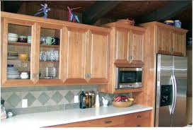 cherry kitchen broader view of different cabinet heights and