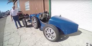 vintage bugatti sitting in a bugatti type 35