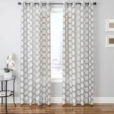 White Patterned Curtains Bust Of Adorn Your Interior With White Patterned Curtains Home