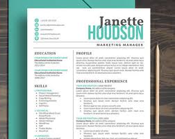 resume template instant download creative resume template