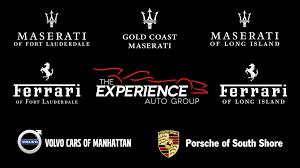 ferrari porsche logo the experience auto group linkedin