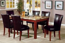 artistic dining furniture w genuine marble top table
