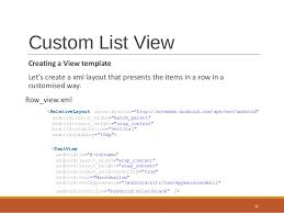 layout template listview android listview and custom listview